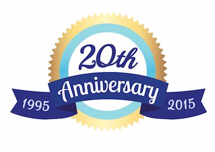 20th Anniversary Rosette
